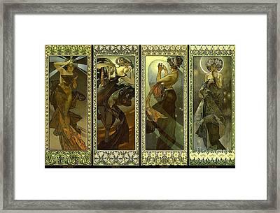 Lune Et Etoiles 1902 Framed Print by Padre Art