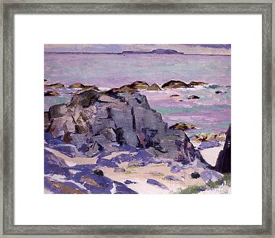 Lunga From Above Mermaids Framed Print by Francis Campbell Boileau Cadell