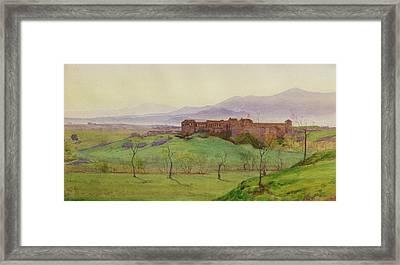 Lunghezza Half Way Between Rome Framed Print by Matthew Ridley Corbet