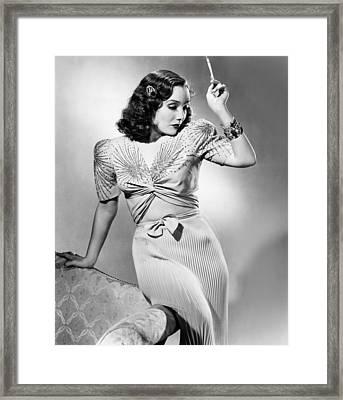 Lupe Velez, Modeling Two-piece Blue Framed Print by Everett