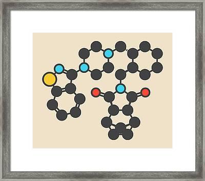 Lurasidone Antipsychotic Drug Molecule Framed Print by Molekuul