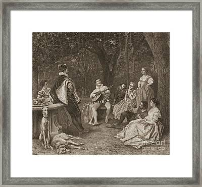 Lute Player 1858 Framed Print by Padre Art