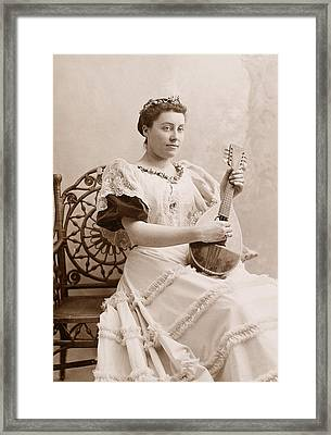 Lute Player, 19th Century Framed Print by Granger