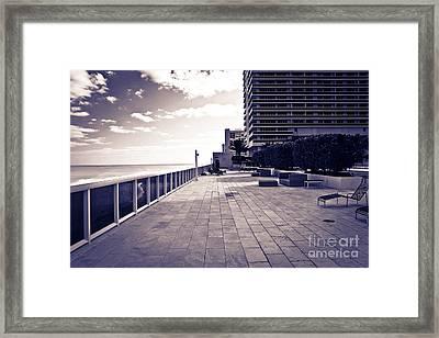 Luxury Beach Club  Framed Print by Sophie Vigneault