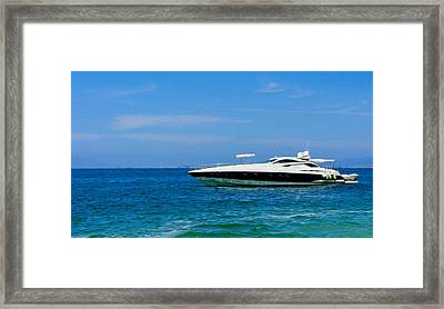 Luxury Boat Framed Print by Aged Pixel