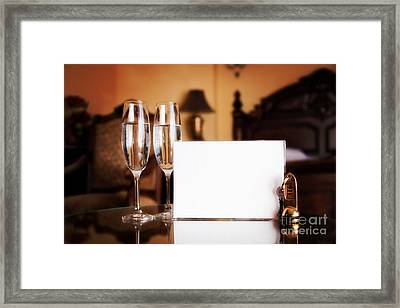 Luxury Hotel Room Framed Print by Michal Bednarek