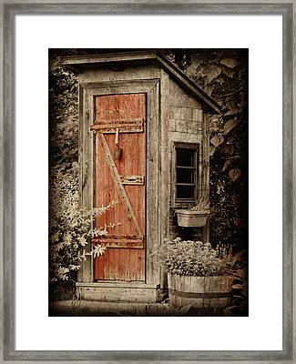 Luxury Outhouse Framed Print by Brenda Conrad