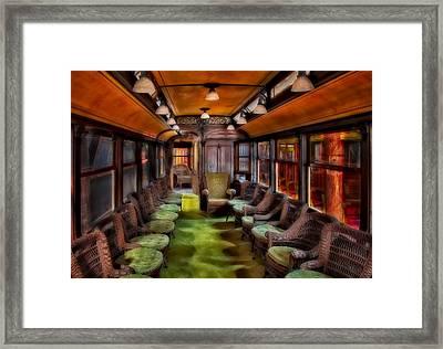 Luxury Trolley Train Framed Print by Susan Candelario
