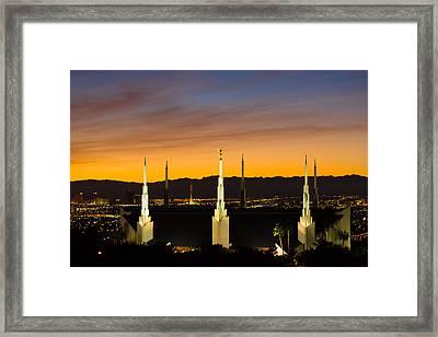 Lv Temple Sunset 3 Framed Print by Alan Nix