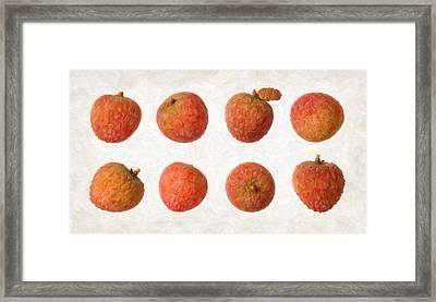 Lychee Framed Print by Danny Smythe