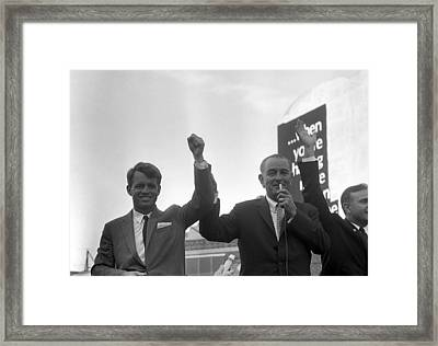 Lyndon Johnson With Robert Kennedy Framed Print by War Is Hell Store