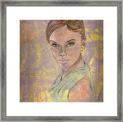 Lynette Framed Print by P J Lewis