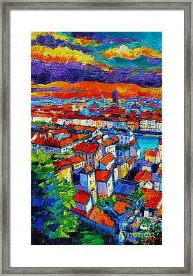 Lyon View 1 Framed Print by Mona Edulesco