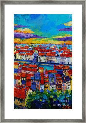 Lyon View 2 Framed Print by Mona Edulesco