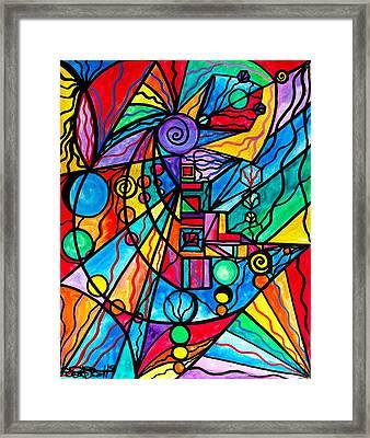 Lyra Framed Print by Teal Eye  Print Store