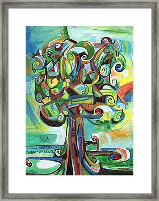 Lyrical Tree Framed Print by Genevieve Esson