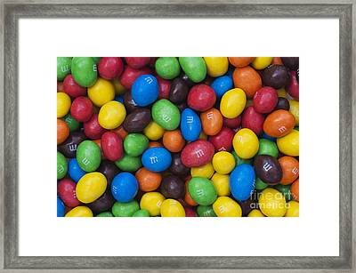 M And Ms Framed Print by Tim Gainey