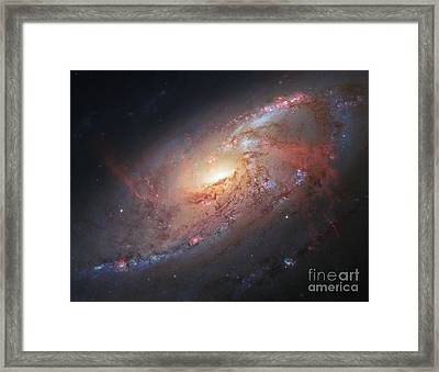 M106-spiral Galaxy Framed Print by Science Source