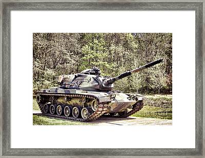 M60 Patton Tank Framed Print by Olivier Le Queinec