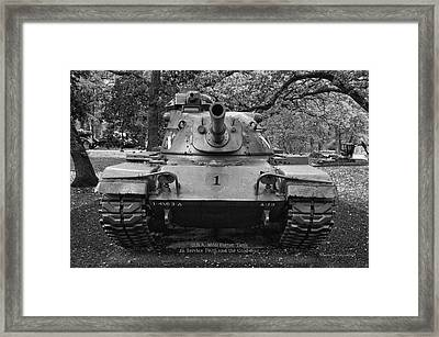 M60 Patton Tank Framed Print by Thomas Woolworth