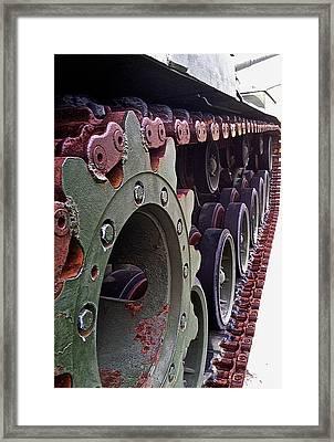 M60 Patton Tank Tread Framed Print by Bill Owen