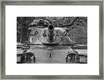 M60 Patton Tank Turret Framed Print by Thomas Woolworth