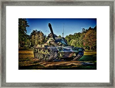 M60a3 Mbt Framed Print by D L McDowell-Hiss