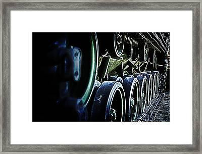 M60a3 Tank Tread Framed Print by D L McDowell-Hiss