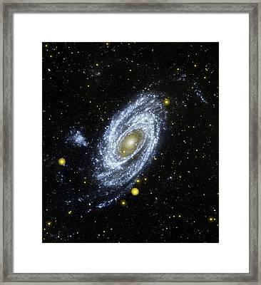 M81 Galaxy Framed Print by Nasa/jpl-caltech/harvard-smithsonian Cfa