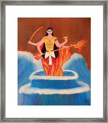 Ma Bharati Framed Print by Pratyasha Nithin