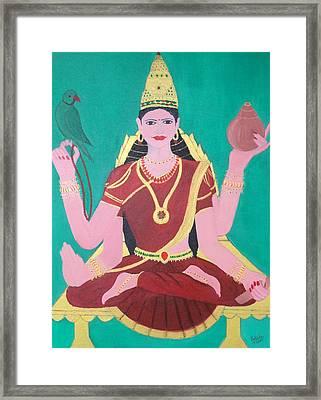 Ma Sharada Framed Print by Pratyasha Nithin