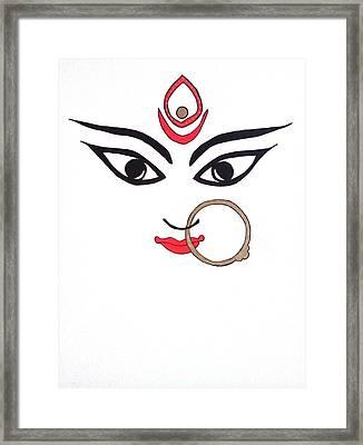 Maa Kali Framed Print by Kruti Shah