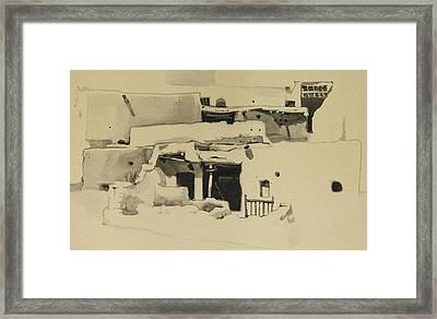 Maaloula Framed Print by Mamoun Sakkal