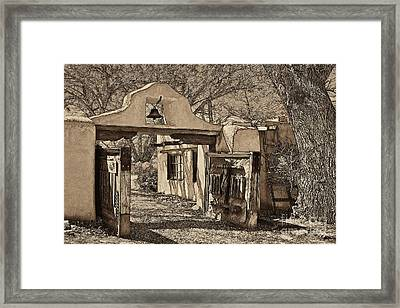 Mabel's Gate - A Different View Framed Print by Charles Muhle