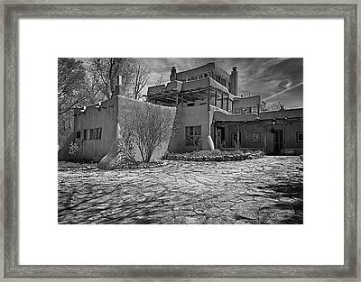 Mabel's Place In B And W Framed Print by Charles Muhle
