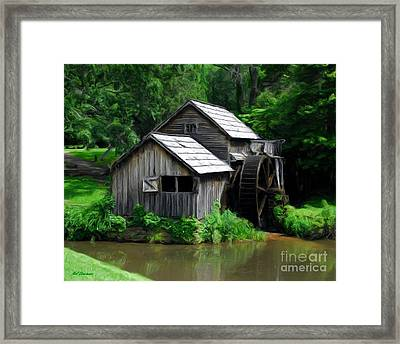 Mabry Mill 4 Framed Print by Mel Steinhauer