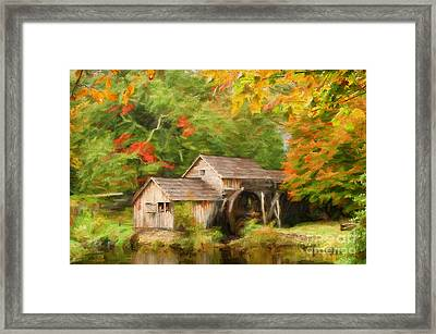 Mabry Mill Autumn Framed Print by Darren Fisher