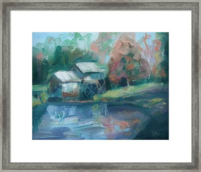 Mabry Mill Framed Print by Donna Tuten