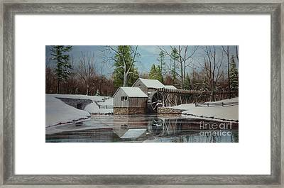 Mabry Mill Framed Print by Phil Christman