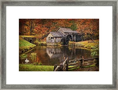 Mabry Mill Framed Print by Priscilla Burgers