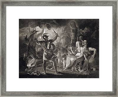 Macbeth, The Three Witches And Hecate Framed Print by John & Josiah Boydell
