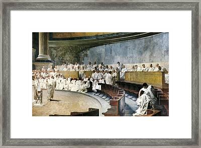 Maccari, C�sar 1840-1919. Cicero Framed Print by Everett