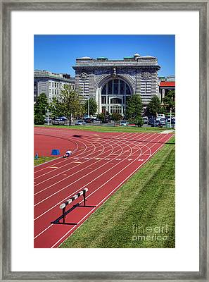 Macdonough Hall At Usna Framed Print by Olivier Le Queinec