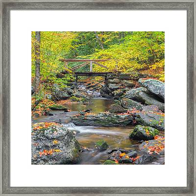 Macedonia Brook Square Framed Print by Bill Wakeley