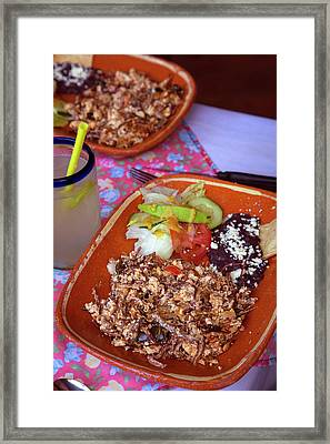 Machaca, Shredded Beef Breakfast, El Framed Print by Douglas Peebles