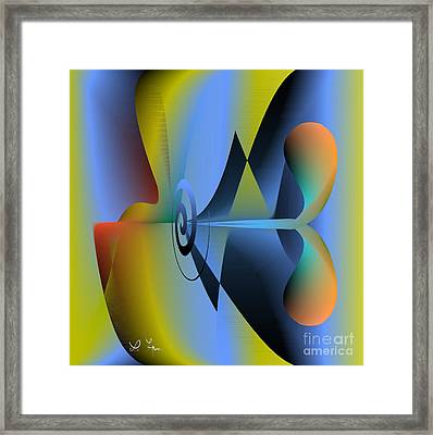 Machine For Happiness Framed Print by Leo Symon