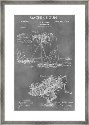 Machine Gun Patent Framed Print by Dan Sproul