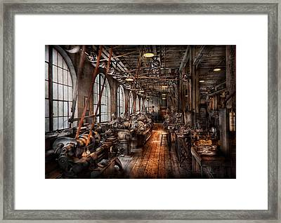 Machinist - A Fully Functioning Machine Shop  Framed Print by Mike Savad