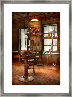 Machinist - A Lone Grinder  Framed Print by Mike Savad