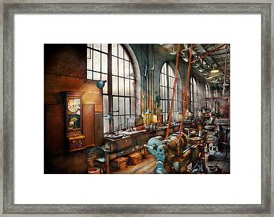 Machinist - Back In The Days Of Yesterday Framed Print by Mike Savad
